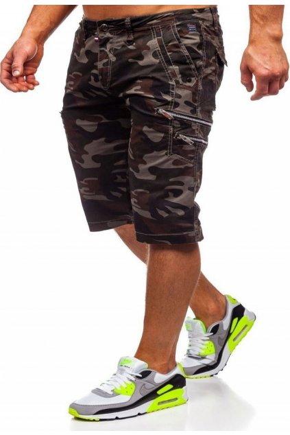 Khaki férfi rövidnadrág