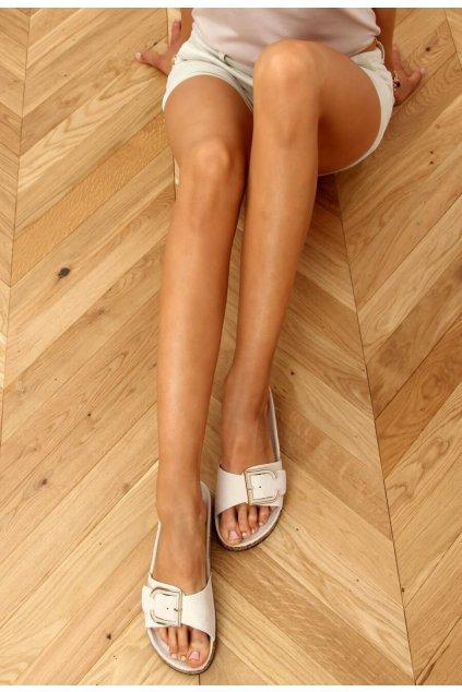 Bézs női papucs
