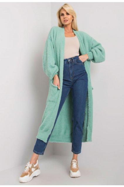 Zöld női kardigán