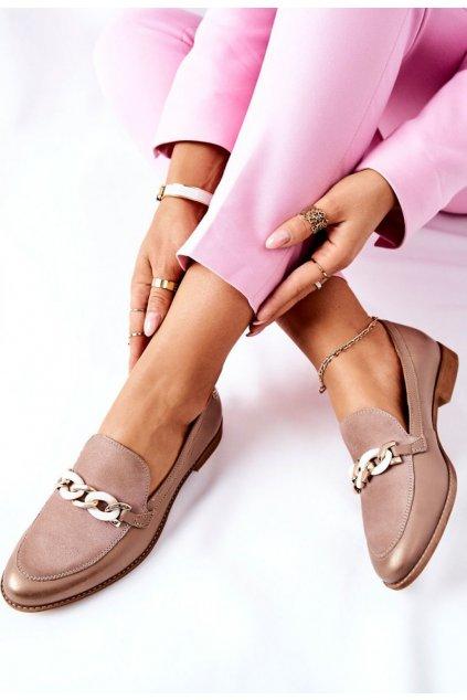 Barna női félcipő