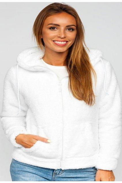Fehér női kapucnis melegítőfelső