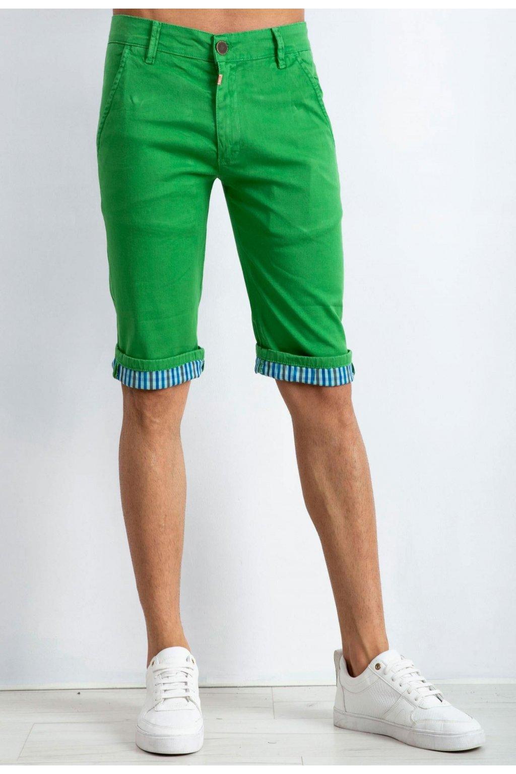 Zelené pánske kraťasy