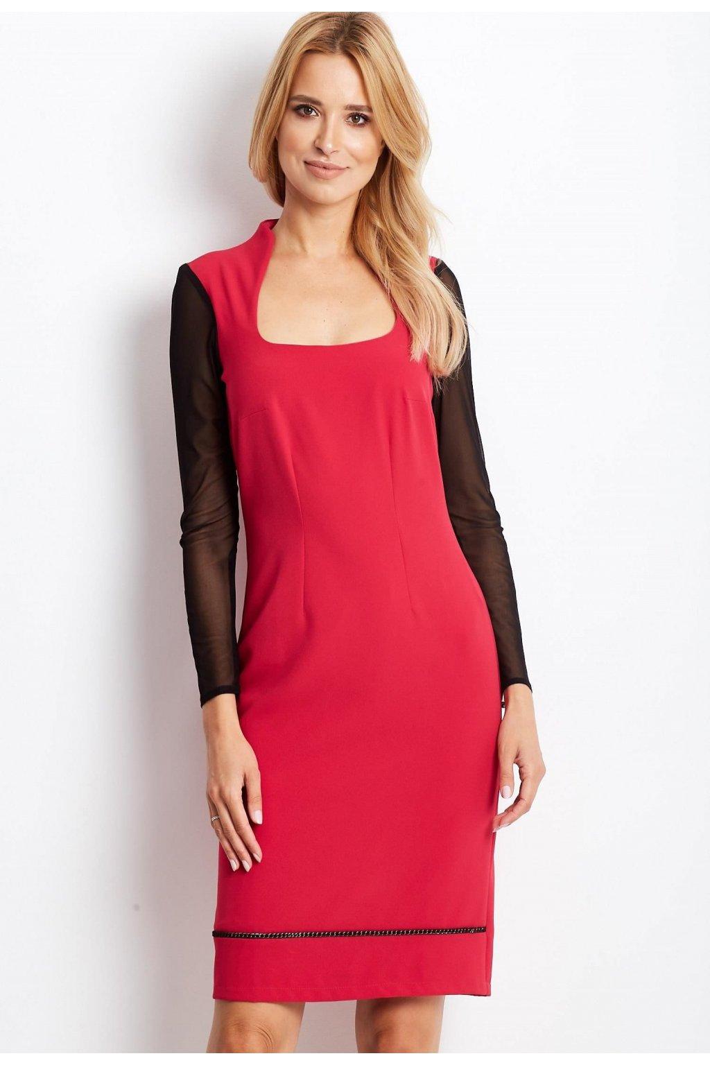 Ružové dámske koktejlové šaty