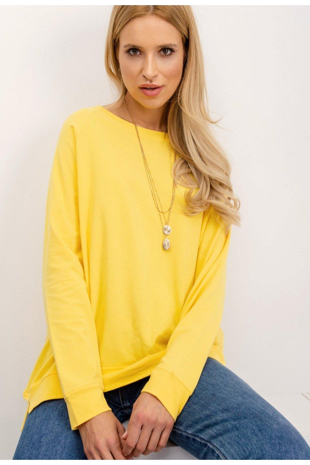 Žltá dámska mikina