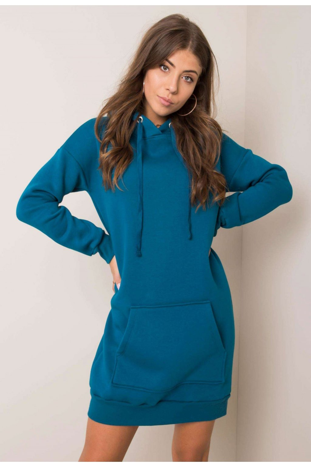 Modré dámske šaty