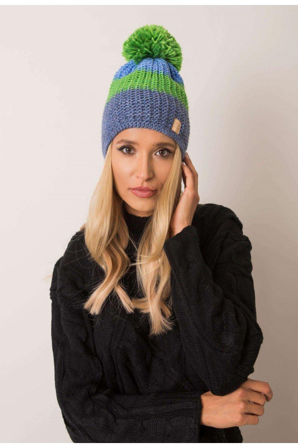 Modro - zelená dámska čiapka
