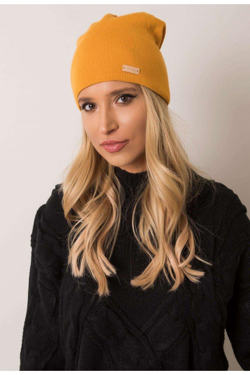 Žltá dámska čiapka