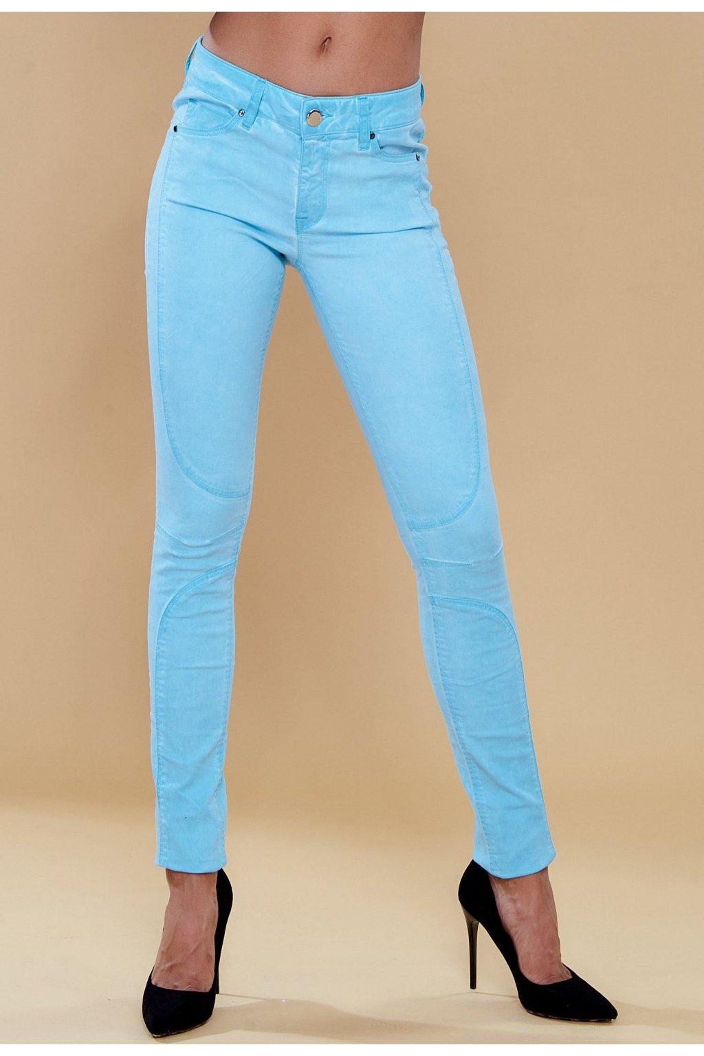 Modré dámske nohavice