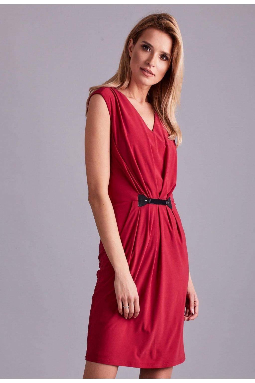 Ružové dámske spoločenské šaty