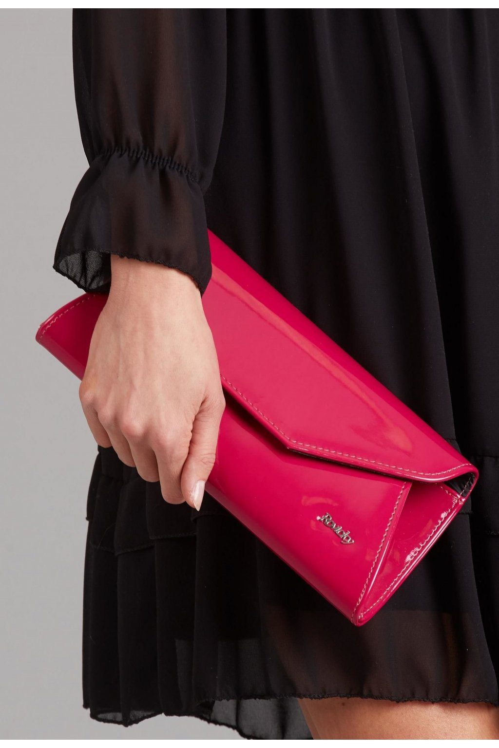 Fuchsiová dámska listová kabelka