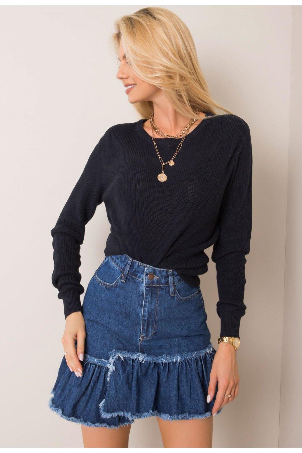 Modrá dámska riflová sukňa