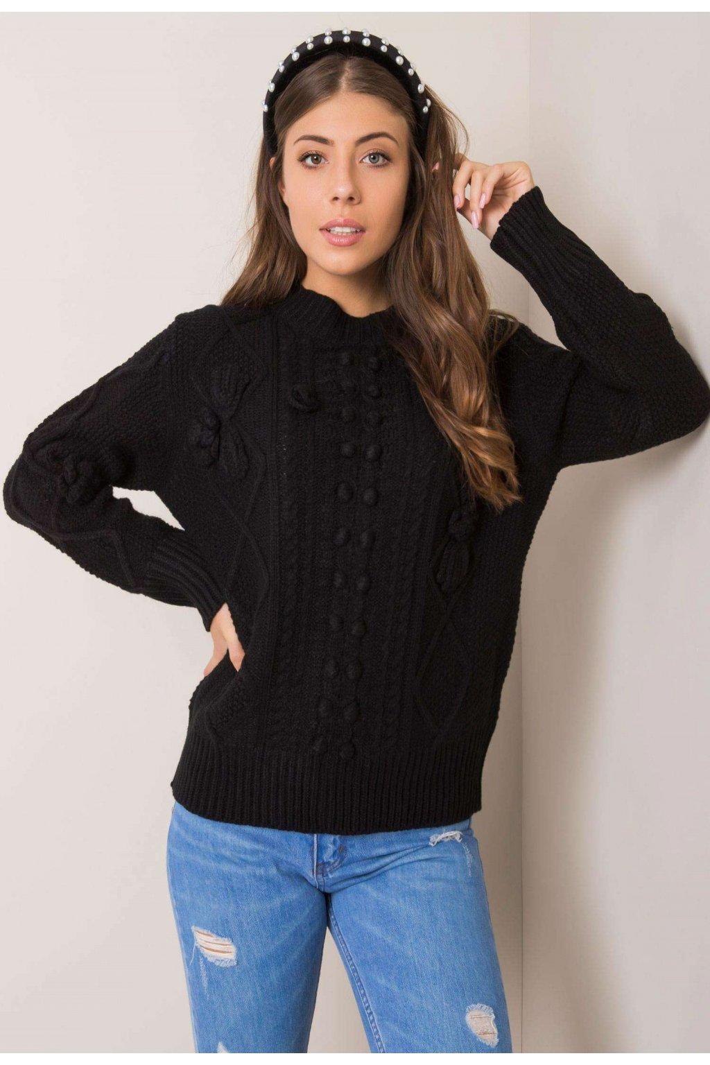Čierny dámsky sveter
