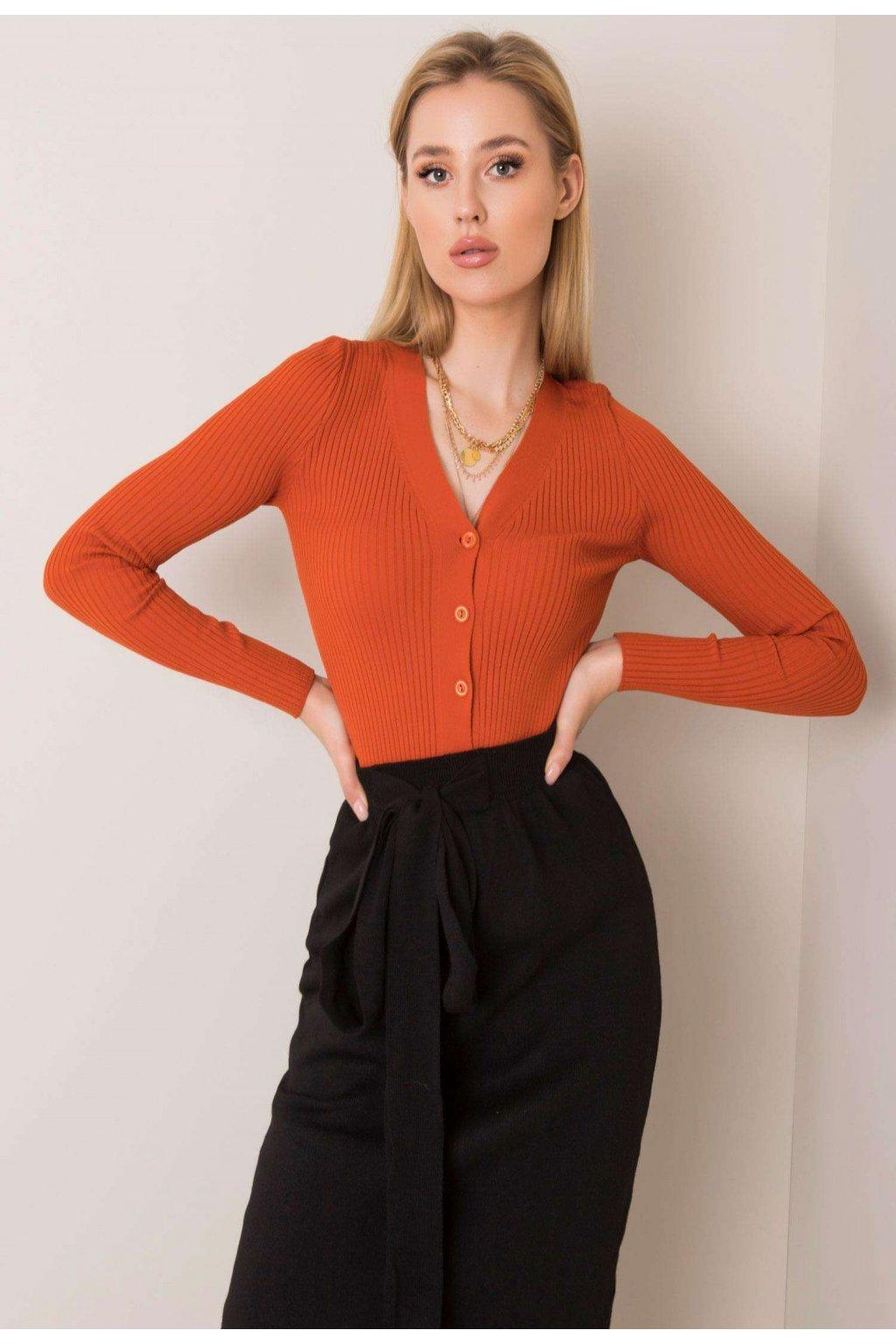 Oranžový dámsky sveter