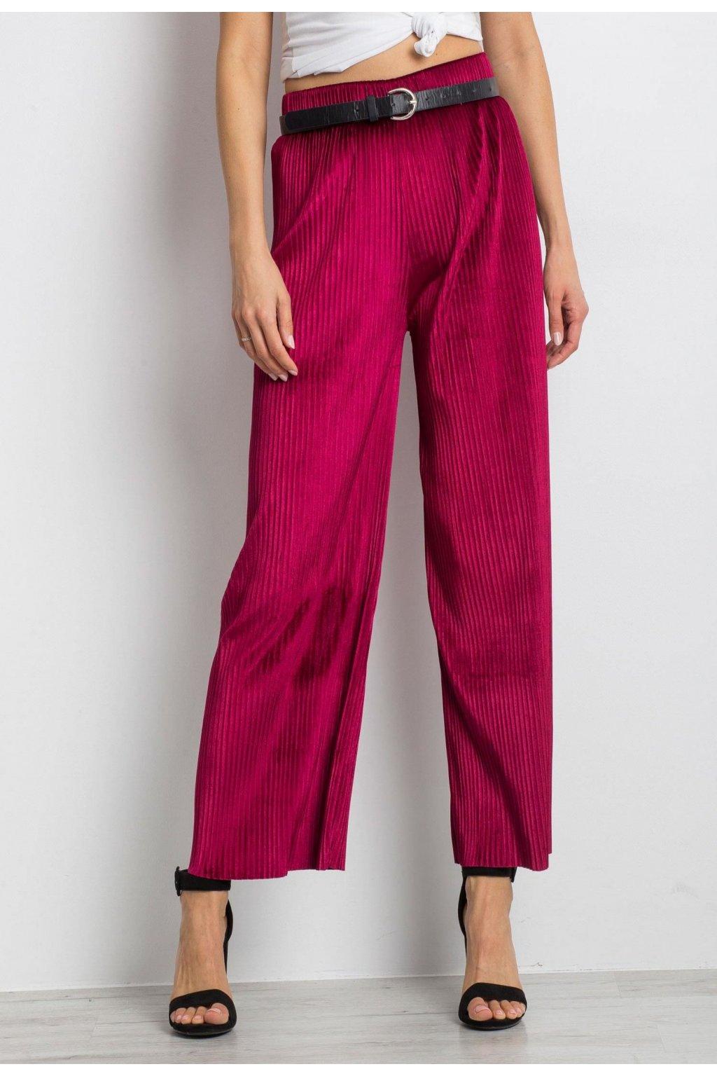 Bordové dámske nohavice