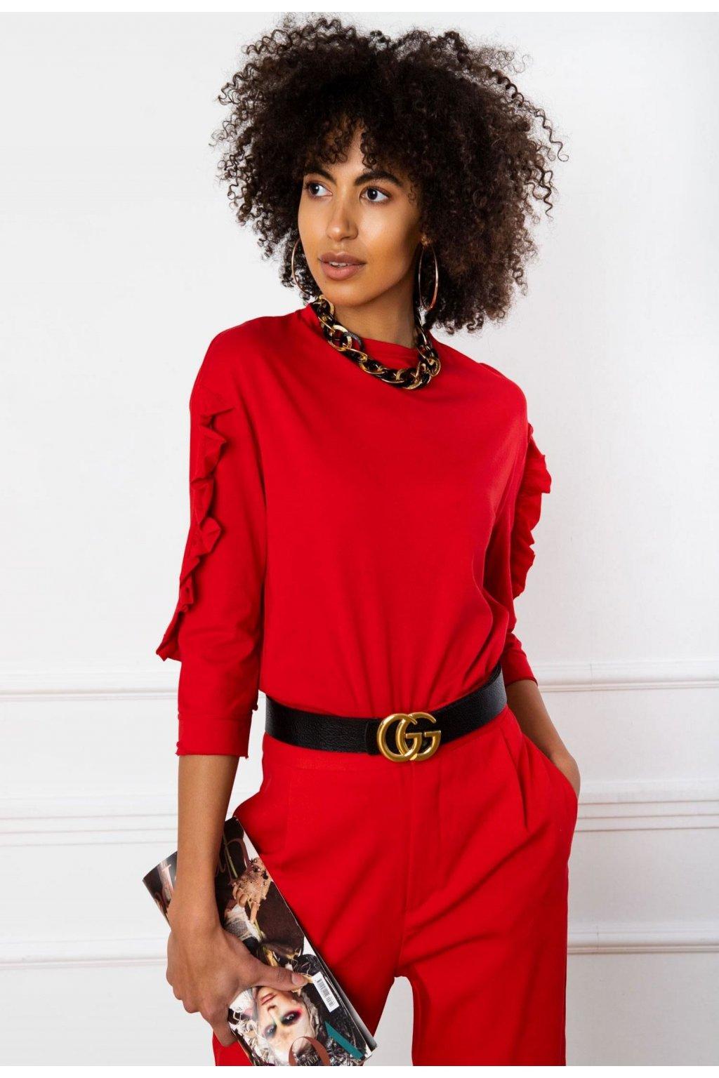 Červená dámska blúzka