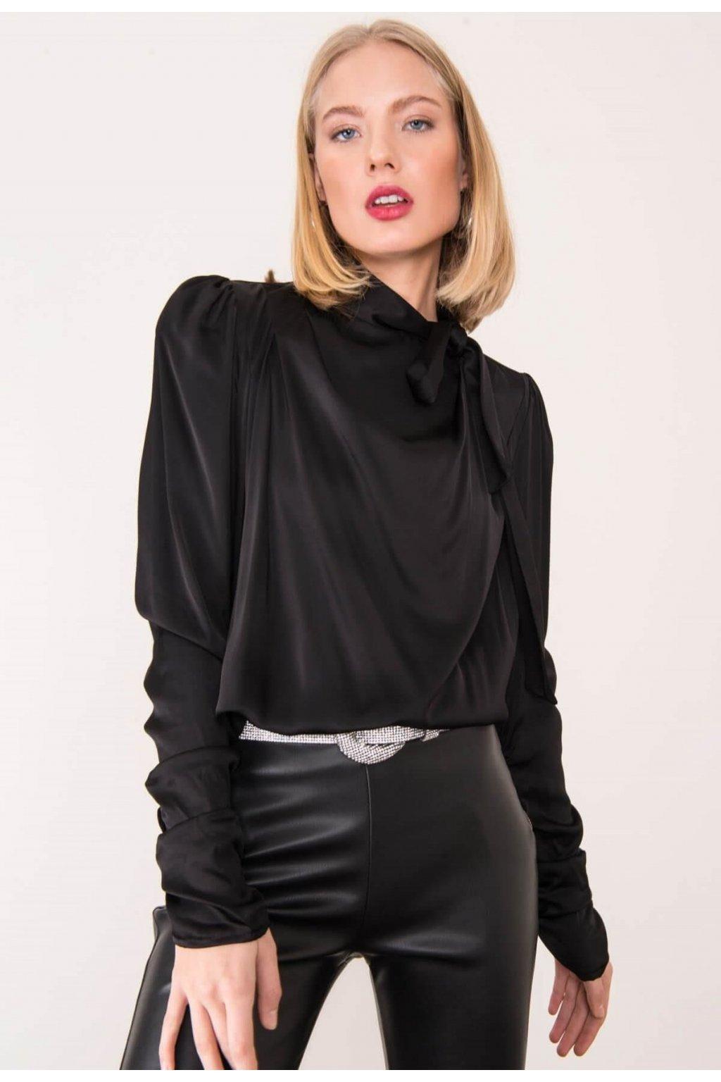 Čierna dámska elegantná blúzka