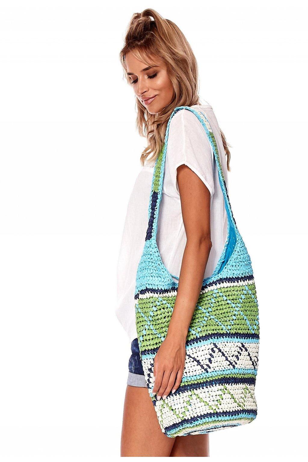 Zelená dámska plážová taška