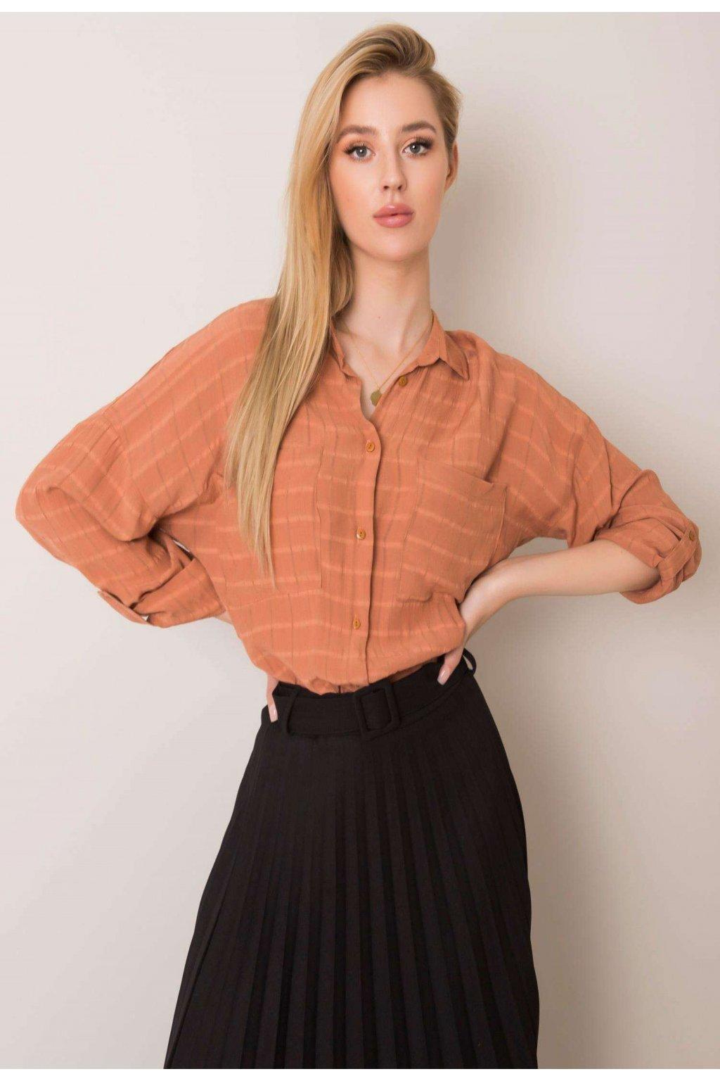 Hnedá dámska košeľa
