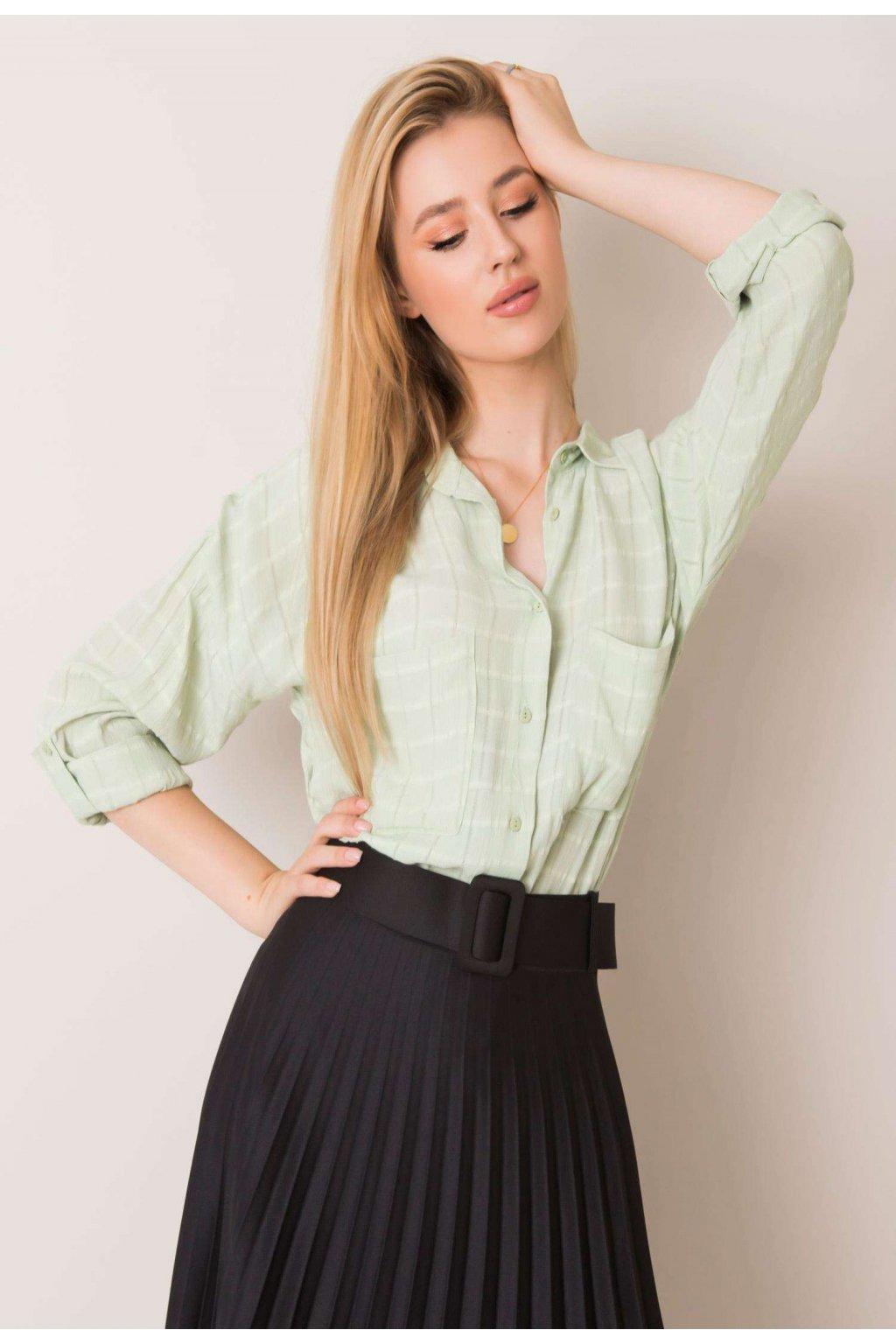 Zelená dámska košeľa