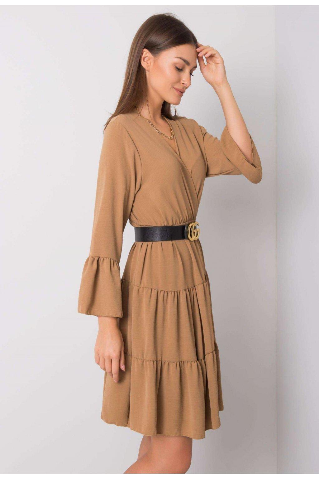 Béžové dámske boho šaty