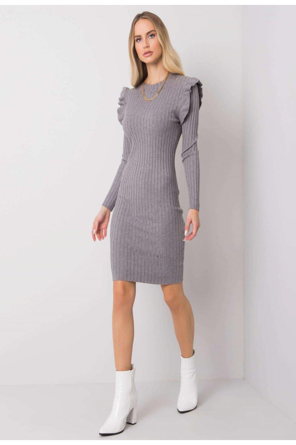 Šedé dámske šaty