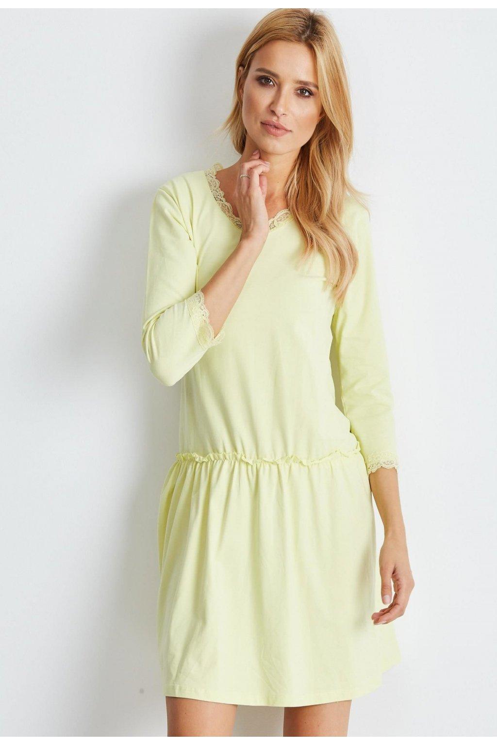Žlté dámske puzdrové šaty