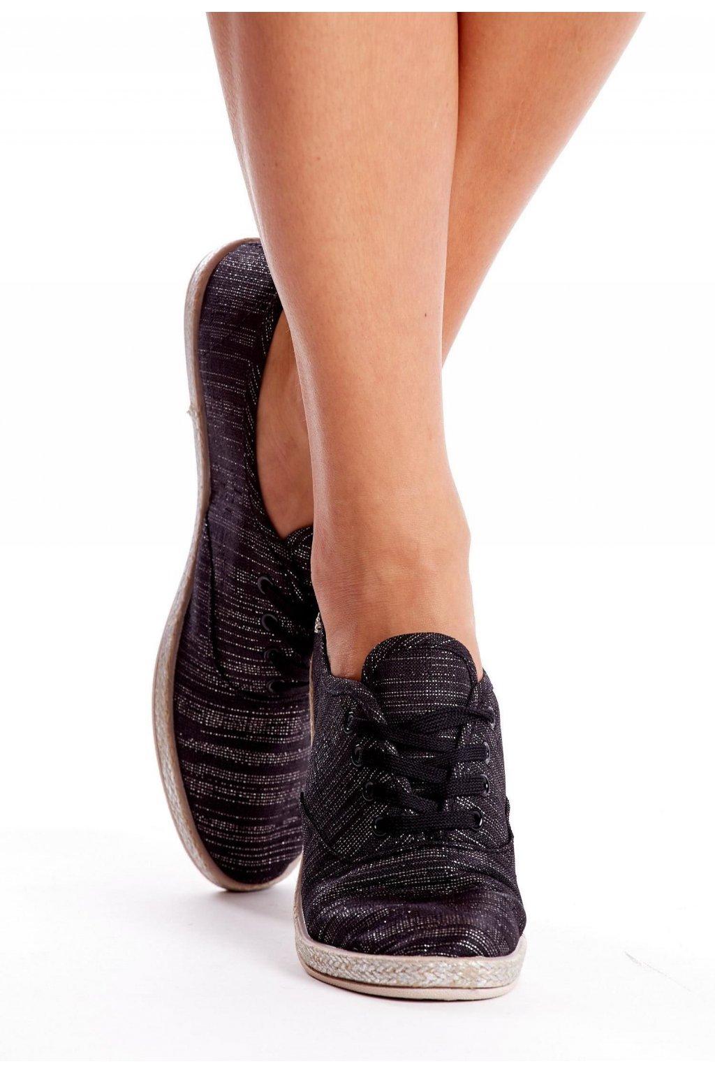 Čierne dámske tenisky