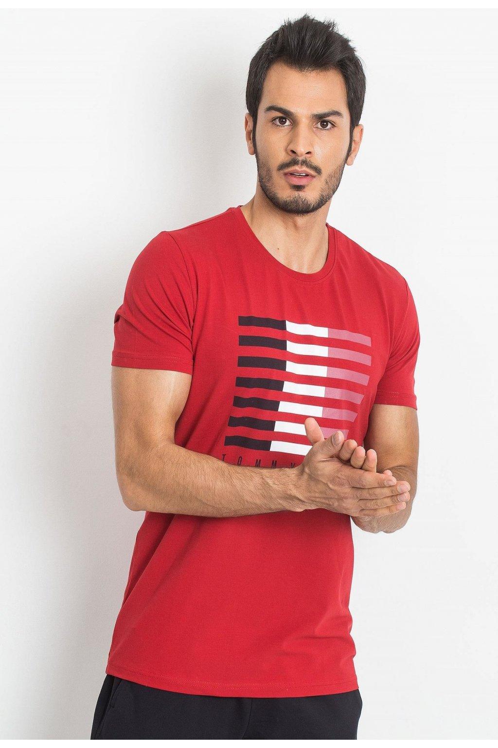 Červené pánske tričko