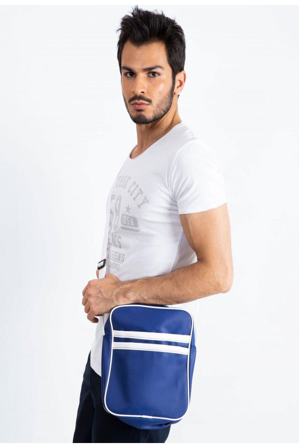 Modrá pánska crossbody taška
