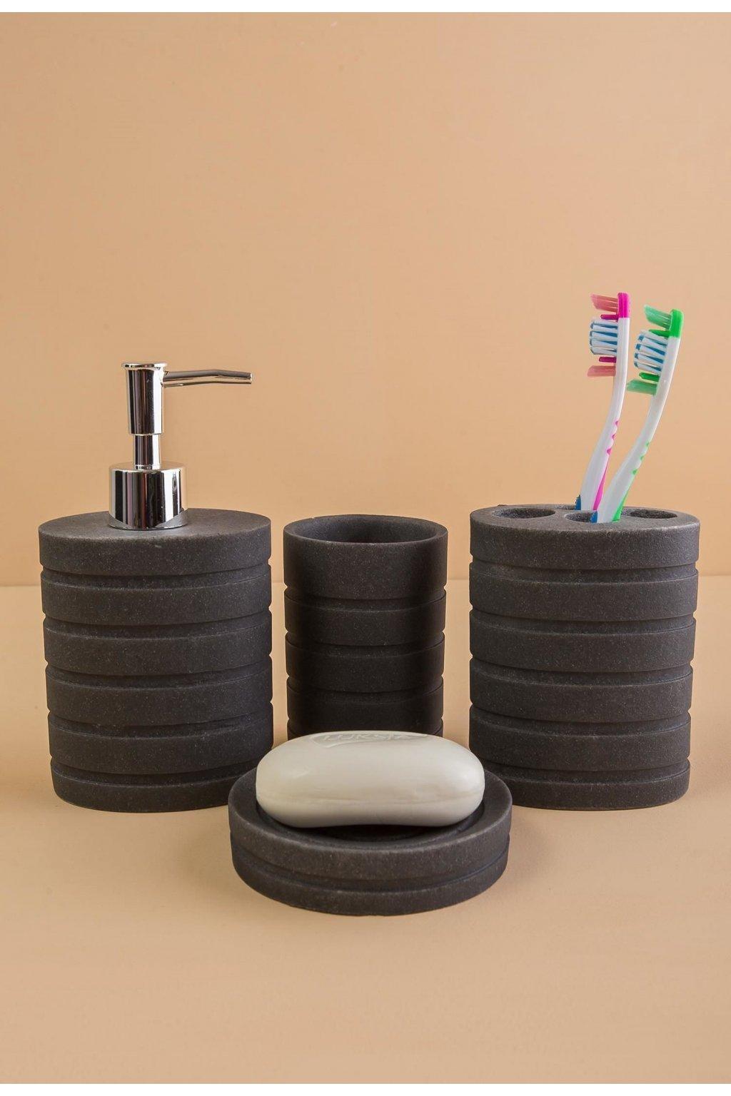 Šedý  kúpelňový doplnok