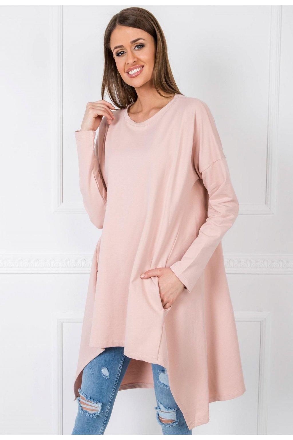 Ružová dámska tunika