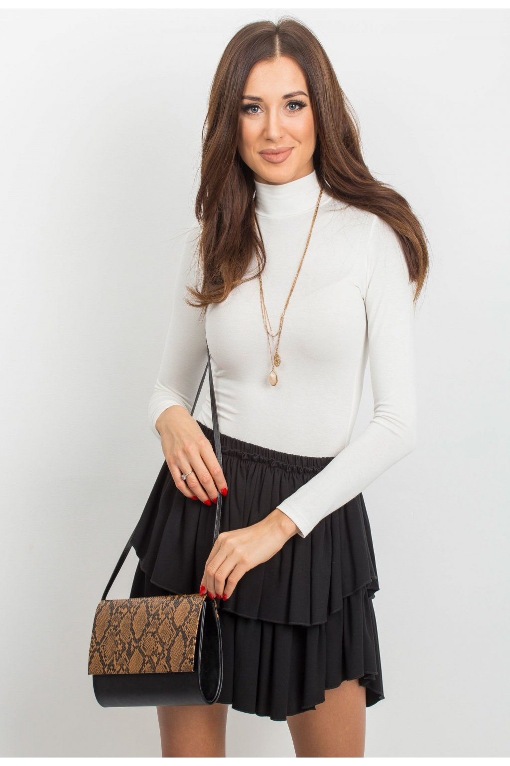 Čierna dámska listová kabelka