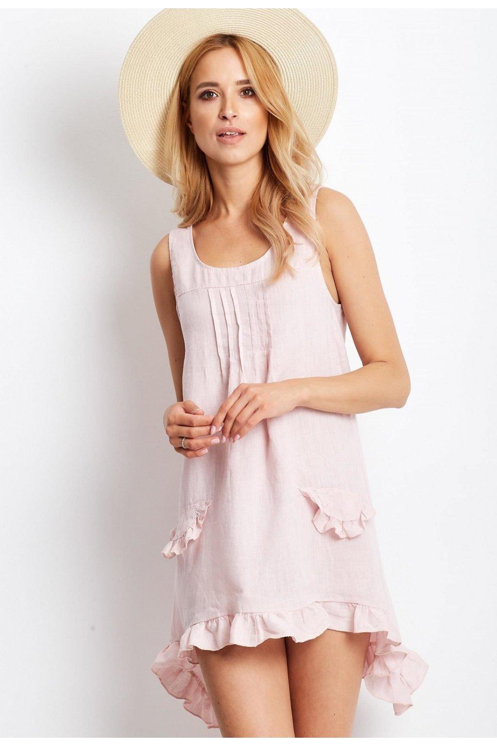 Ružové dámske šaty