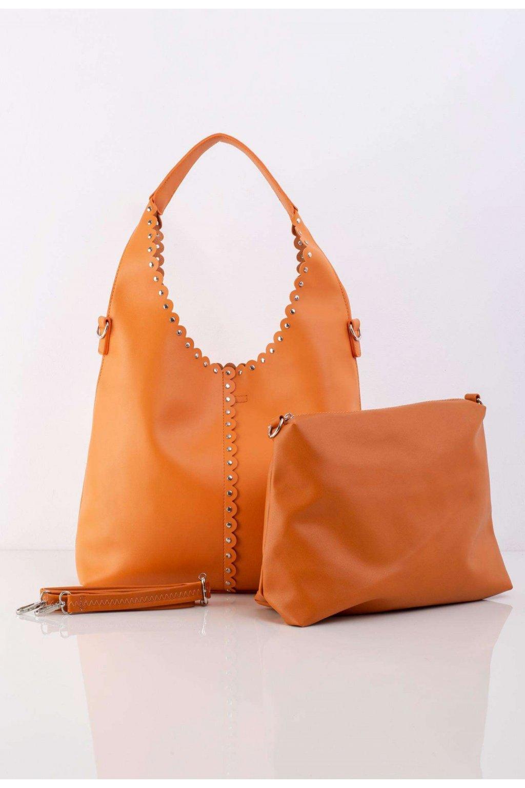 Oranžová dámska kabelka