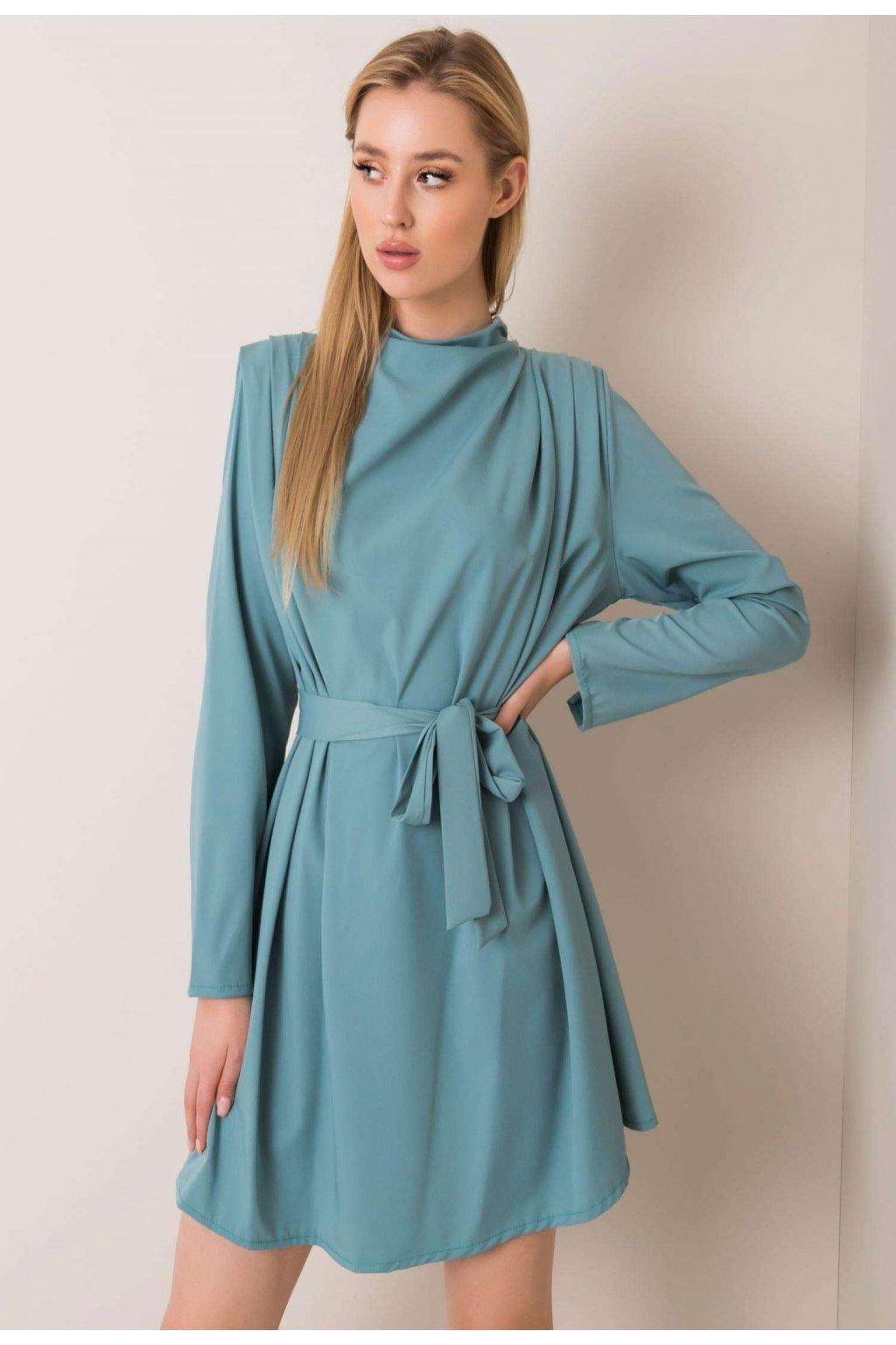 Tyrkysové dámske šaty