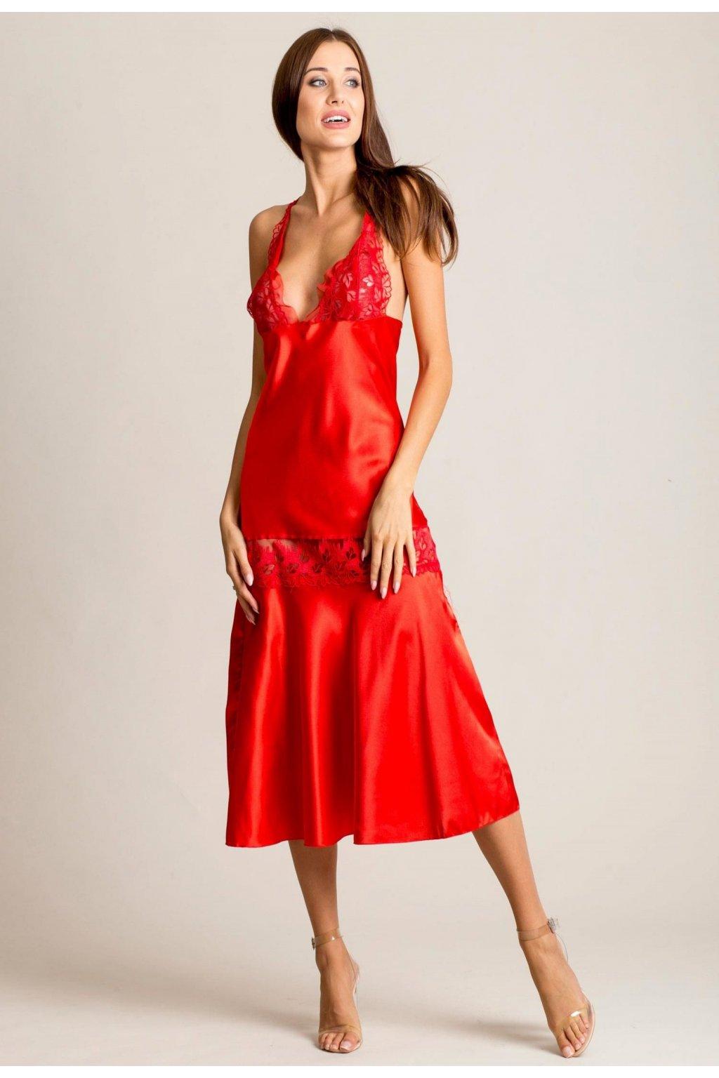 Červené dámske nočné prádlo