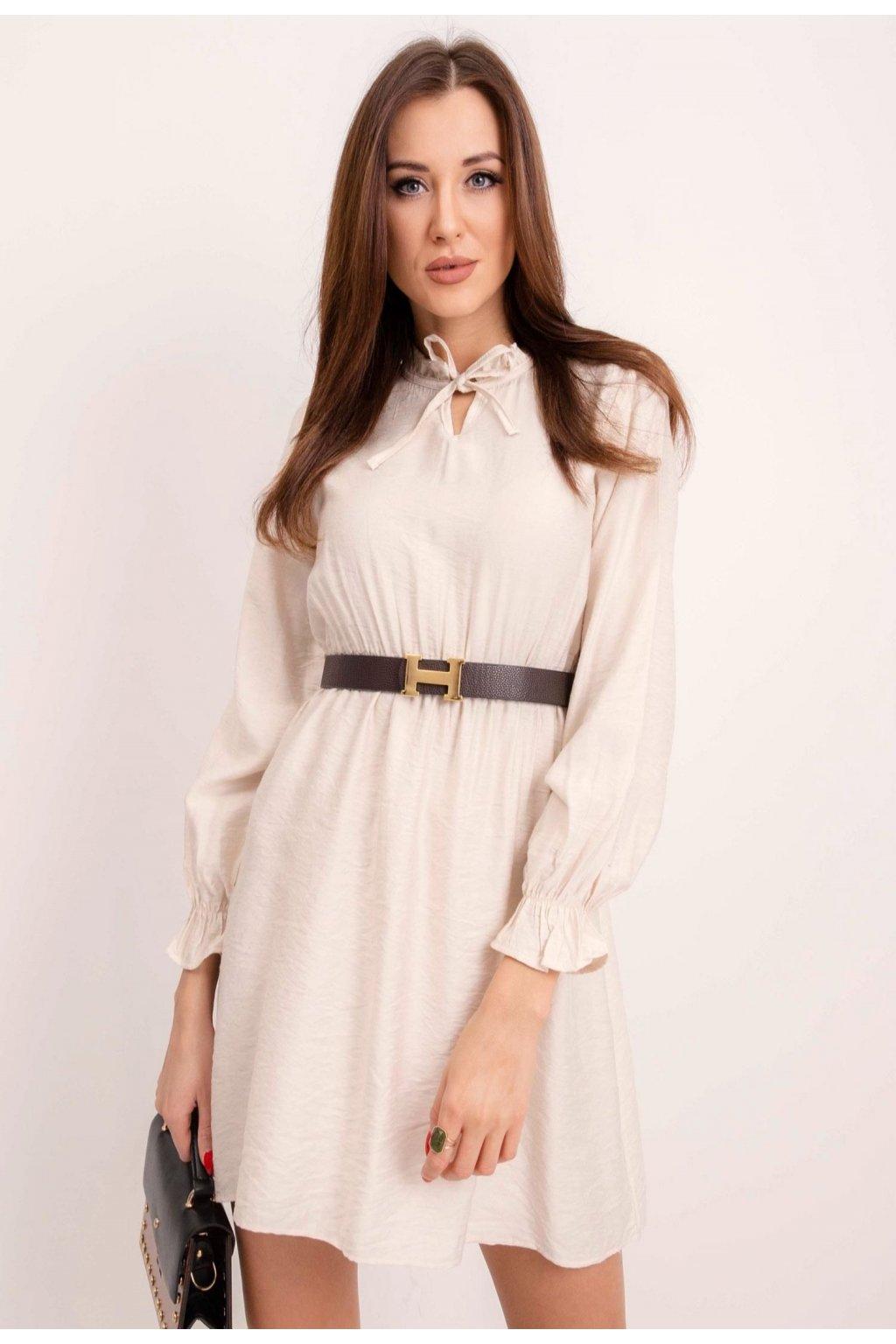 Ecrové dámske šaty