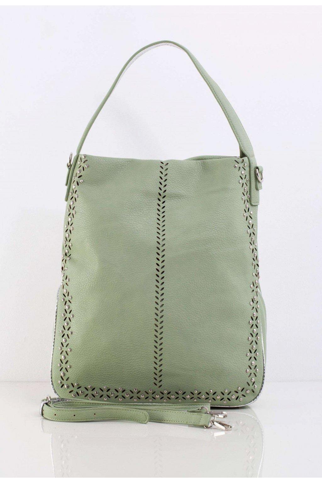Zelená dámska kabelka