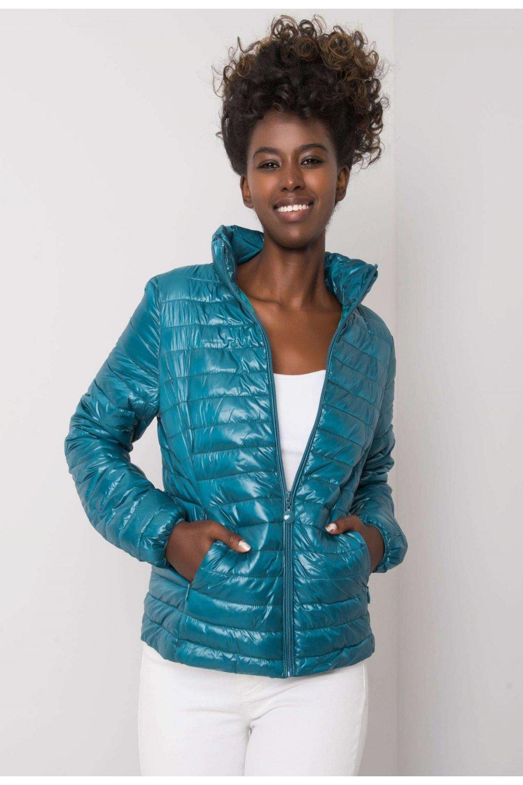Modrá dámska prechodná bunda