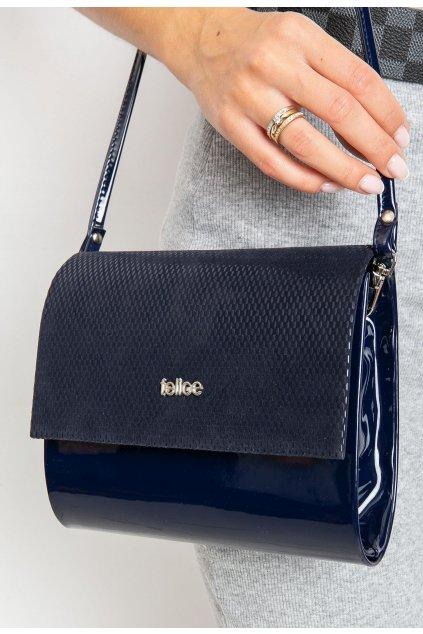 Modrá dámska listová kabelka