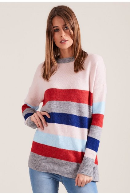 Ružový dámsky sveter