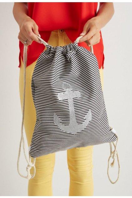 Čierny dámsky batoh