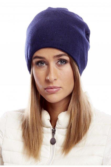 Modrá dámska čiapka