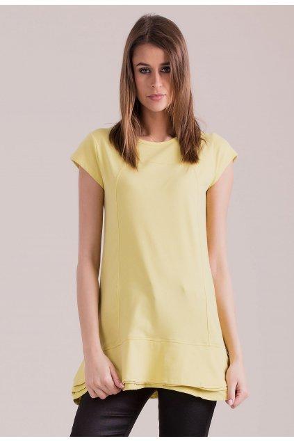 Žltá dámska tunika