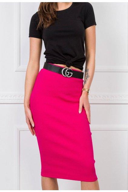 Fuchsiová dámska puzdrová sukňa