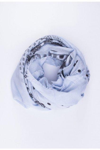 Modrá dámska šatka