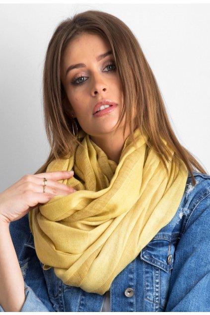 Žltá dámska šatka