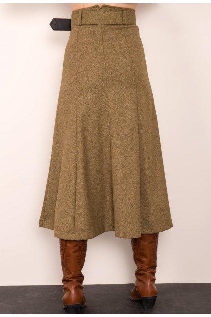 Zelená dámska sukňa do áčka
