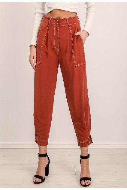 Oranžové dámske nohavice