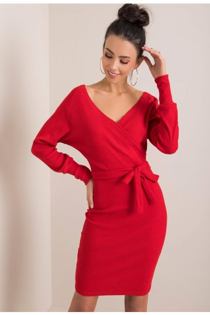 Červené dámske puzdrové šaty